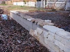 Cinder Block Wall Design cracks Stone Seating Wall With Cinder Block And Stone Faade Facade