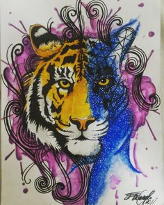 Tigre - tiger Watercolor - acquerellabile Tattoo Tattoo watercolor Real tatto - splatter Cosmo Universo