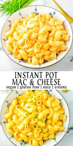 10 minutes · Vegetarian · Serves 6 · This Instant Pot Mac and Cheese is entirely vegan, gluten free and cooked in just 5 minutes on high pressure. So much better than any velveeta mac and cheese or from a ready made mac and cheese box…