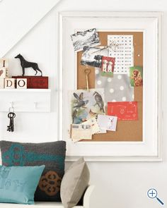 Classic Bulletin Board: The bulletin board that is necessary to push the beautiful sea-inspired pins in!