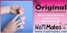 Nailmates inc - Easy Quick Reusable Removal of Gel Polish Shellac Glitter Nail Treatment, Nailmates Removal System For All Stubborn Nail Polish Treatments Cnd Shellac, Remove Shellac Polish, Remove Acrylic Nails, Shellac Colors, Gel Polish Colors, Gel Color, Nail Colors, Gel Nails, Manicures