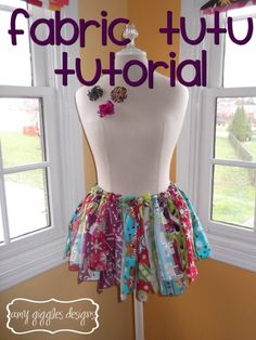 Fabric Strip Tutu Tutorial (Finally!! Been looking for this for months ;) )