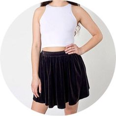 American Apparel Velvet Stretch Skater Skirt *NEW* Brand new unworn item, no tags cause was purchased on American Apparels site. Sold out style. American Apparel Skirts Circle & Skater