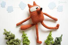 Crochet Toy Doll Fox by Podarenka on Etsy, $72.50