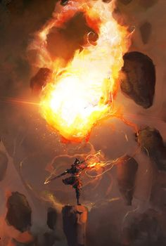 "adedrizils-shrine: "" Fireball by cobaltplasma """