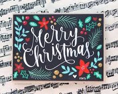 Image result for hand lettering christmas cards