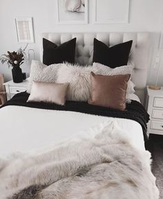 Home Decoration - Master Bedroom Ideas - Dove-gray paint as well as glam handles take this bedroom. Home Decor Inspiration, Home, Bedroom Makeover, Home Bedroom, Bedroom Design, Room Inspiration, Bedroom Inspirations, Bedroom, Dream Rooms