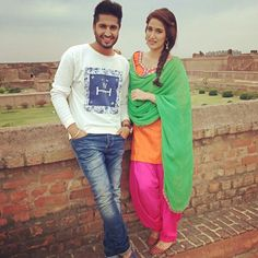 jassi gill at city of lakes bathinda Punjabi Wedding Couple, Punjabi Couple, Wedding Couples, Cute Couples, Sweet Couples, Couple Posing, Couple Shoot, Chak De India, Latest Punjabi Suits