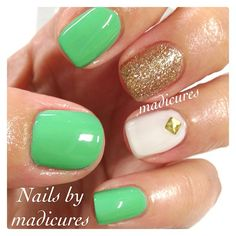 Essie-first timer, picket fence and China Glaze-Champagne Kisses - @Madicures MaddyRodriguez
