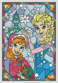 Frozen cross stitch pattern disney cross stitch pattern Anna