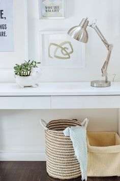 Basket love: http://www.stylemepretty.com/2015/05/19/the-perfect-entryway-our-favorite-entrances-ever/