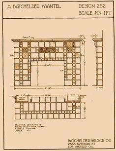 "Our Batchelder fireplace tile design? Website is has pages from a ""catalog"" of original Batchelder fireplace designs."