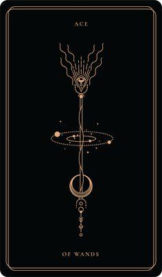 Ace Of WandsAce Of Wands – Soul CardsAce of wands - The Tarot Flash Set - Sebastian Domaschke - High Quality Tattoo Art PrintAce of wands The Ace of Wands represents good news and new Tarot Card Tattoo, Wand Tattoo, Luck Tattoo, Witchy Wallpaper, The Moon Tarot Card, Stampin Up Karten, Save The Date Karten, Mandala Art, Symbolic Tattoos
