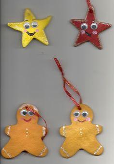 Salt doh Christmas Crafts For Kids, Christmas Deco, Homemade Christmas, Christmas Projects, Christmas And New Year, Christmas Holidays, Christmas Ornaments, Salt Dough Crafts, Salt Dough Ornaments