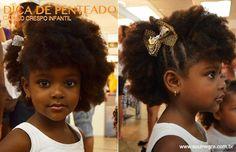 penteador cabelos infantis afro - Pesquisa Google