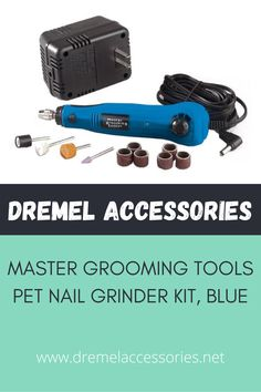 Master Grooming Tools professional pet nail grinder safely and efficiently grooms pets' nails for fast, smooth and accurate results. Powerful motor delivers 18,000 RPM. Features quick-change collet for easy changing of attachments and finger grooves with rubber, sure-grip pads for better control and a convenient hanging hook. Dremel Accessories, Grooms, Finger, Smooth, Change, Pets, Nails, Blue, Boyfriends