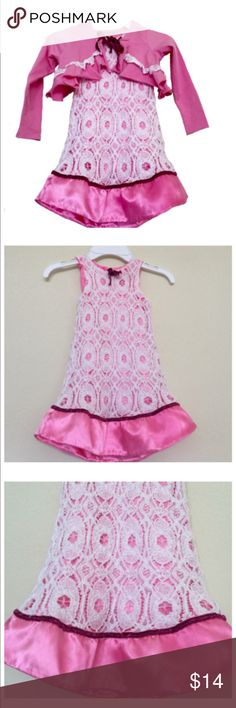 Jelly the Pug Pink Dress Pink lace dress; shrug Jelly the Pug Dresses Casual