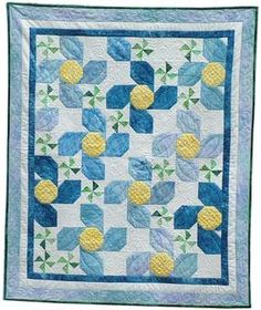 Forget Me Not Quilt Pattern Download by Two Sisters at Squirrel Hollow, available now at connectingthreads.com for just $8.00 »