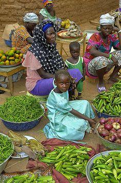 Street Market in Burkina Faso.
