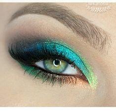 Green Blue Bronze Eye Shadow