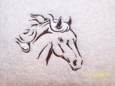 Embroidered Horse on a bath towel  with name by lisalynnitems