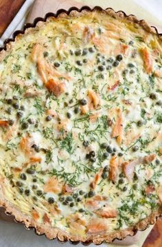 Smoked Salmon and Creme Fraiche Tart with Cornmeal Millet Crust