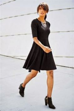 Buy Black Textured Flippy Dress from the Next UK love the texture/pattern - good length in skirt & arms Buy Dress, Dress Skirt, Next Dresses, Summer Boots, Better Length, Fashion Online, Evening Dresses, Your Style, Party Dress