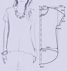 Resultado de imagen para patron blusa campesina de lunares