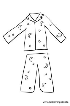 Pajama Coloring Pages Sketch Page
