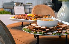 Groovin' Gourmets catered a corporate event with fun foods including a mac and cheese station, s'mores bar, and slider bar...