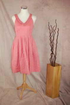 Moulinette Soeurs Melon Ball Dress 4 Pink Polka Dot Sleeveless