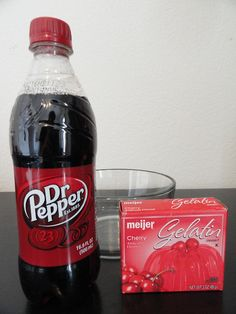 Cherry Dr. Pepper Jello Instead of water, I used Dr. Pepper to make the Jello.