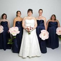 Strapless Satin Pleated Bodice Ball Gown - Davids Bridal - looks good in navy blue.