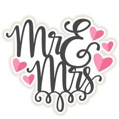 Mr & Mrs Title SVG scrapbook cut file cute clipart files for silhouette cricut pazzles free svgs free svg cuts cute cut files
