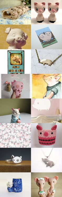 Lil' Spring Piggies by Cameo LLC on Etsy