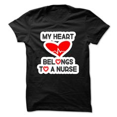 My heart belongs to a nurse T Shirt, Hoodie, Sweatshirt