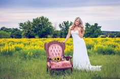 Bridal Portraits are a must! Love this shoot among a field of wildflowers!