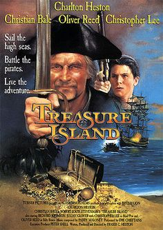 Directed by Fraser C. With Charlton Heston, Christian Bale, Oliver Reed, Christopher Lee. The treasure seeking adventures of young Jim Hawkins and pirate Captain Long John Silver. Oliver Reed, Christian Bale, Great Films, Good Movies, Teen Movies, Vermont, James Cosmo, Pirate Movies, 1990 Movies
