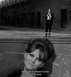 8½, Federico Fellini. Split screen. DOUBLE SUBTITLE.