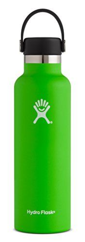 Hydro Flask 21 oz Double Wall Vacuum Insulated Stainless Steel Leak Proof Sports Water Bottle, Standard Mouth with BPA Free Flex Cap, Kiwi. For product & price info go to:  https://all4hiking.com/products/hydro-flask-21-oz-double-wall-vacuum-insulated-stainless-steel-leak-proof-sports-water-bottle-standard-mouth-with-bpa-free-flex-cap-kiwi/
