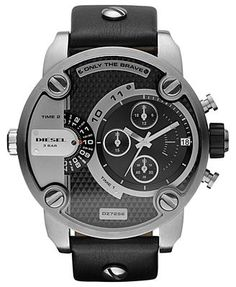 An industrial-grade timepiece built with style and precision, by Diesel. | Black…