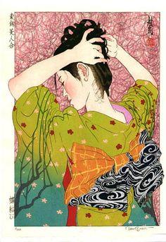 beautiful japanese woodblock print by paul binnie