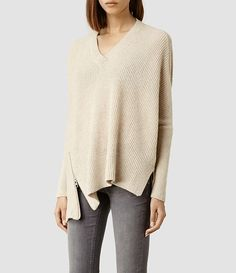 Womens Able Zip Sweater (Cinder Marl) - product_image_alt_text_2