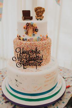ideas for cake decorating disney fairytale weddings - Cake Decorating Dıy Ideen Disney Up Wedding, Disney Inspired Wedding, Disney Themed Weddings, Disney Wedding Shower Ideas, Disneyworld Wedding, Disney Bride, Disney Wedding Dresses, Themed Wedding Cakes, Wedding Themes