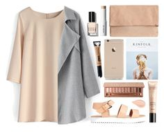 """""""Nude"""" by sarase ❤ liked on Polyvore featuring Chicwish, Guerlain, shu uemura, Bobbi Brown Cosmetics, Urban Decay, urbandecay and nude"""