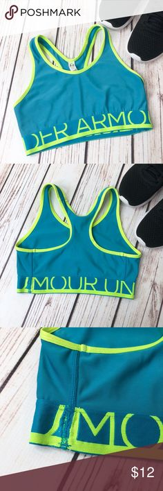 5a244aa373f8f Under Armour Sports Bra Size  XS Color  blue green Condition  pre-owned