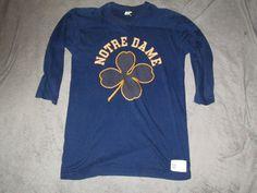 Notre Dame vintage long sleeve shirt clover by Fchoicevintage