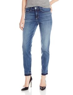 "NYDJ Women's Clarissa Ankle Jeans with Released Hem, Heyburn, 18. Skinny ankle fit, light whiskering and hand sanding, released hem detail, classic 5-pocket styling, zip fly, button closure. Rise: 9.75""; Inseam: 28""; Leg Opening: 12"". Exclusive Lift Tuck Technology that makes you look and feel one size smaller. Remember to select one size smaller for the perfect fit."