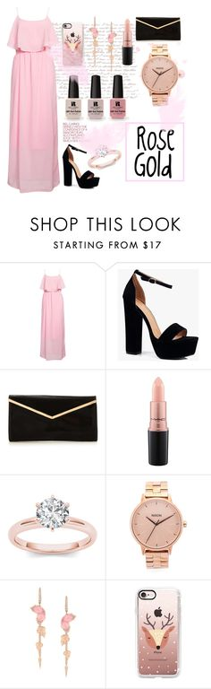"""""""Rose Gold"""" by ariana260 ❤ liked on Polyvore featuring Rut&Circle, Boohoo, MAC Cosmetics, Nixon, Stephen Webster, Casetify, Victoria's Secret and rosegold"""