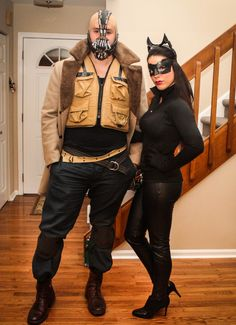 Couples Halloween Costume: Bane and Catwoman! No one steal this please me and chad have been planning for months lol